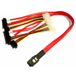 50CM MINI SAS X 4 ( SFF 8087 ) TO 4 X SAS 29PIN ( SFF 8482 )