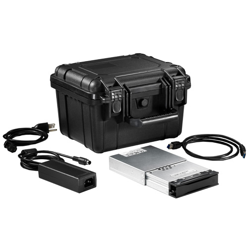 CRU DCP Kit #2 includes DX115 DC Carrier, USB 3.0 Move Dock with USB 3.0 Cable, AUS Power, Shipping Case with Custom Foam