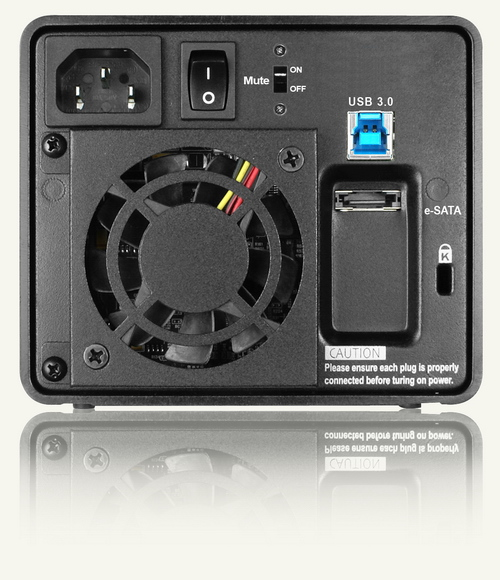 "RAIDON SafeTank 3.5"" 2Bay DAS with USB3.0 / eSATA / 2*3.5"" SATAII HDD / RAID 0, 1 / LCD / Hot-Swap"
