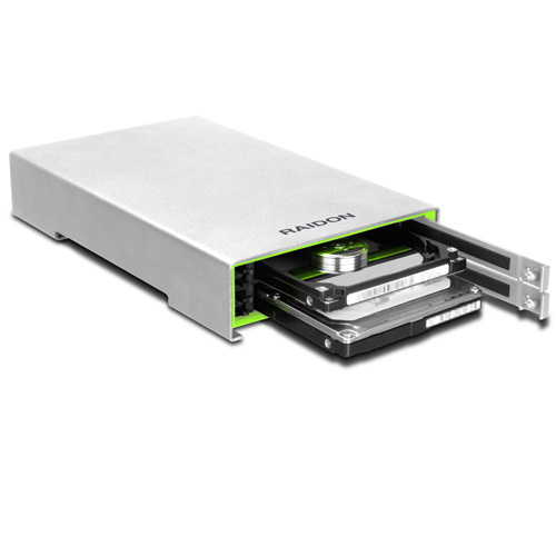 "RAIDON Runner 2.5"" 2Bay DAS with USB3.0 / 2*2.5\"" SATAII HDD"