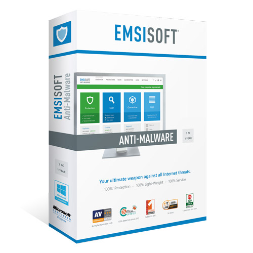 Emsisoft Emergency Kit Pro - 250 Scans / 1Yr (ESD)