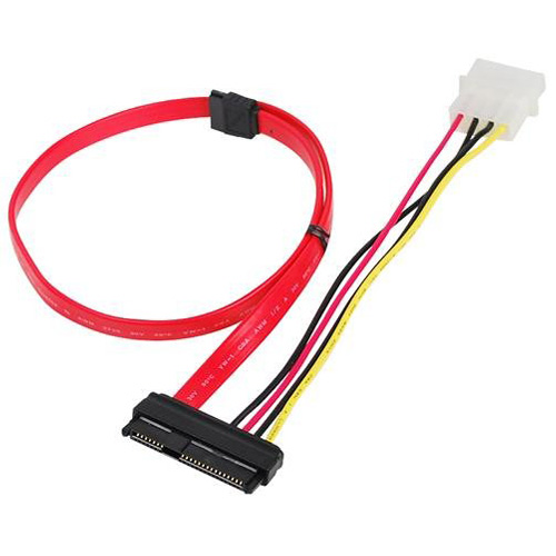 70CM SAS (SFF-8482) SAS HDD to SATA Cable